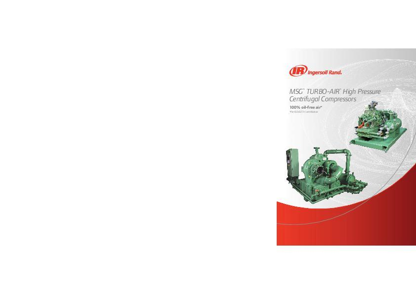 MSG TURBO-AIR High Pressure Centrifugal Compressors Brochure A4