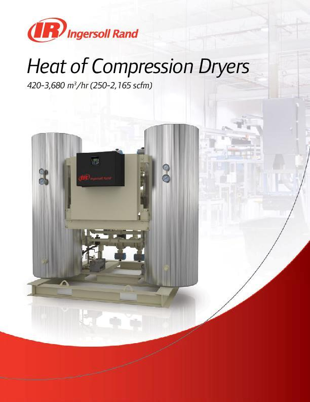 Heat of Compression Dryers4203680 m3hr 2502165 scfm
