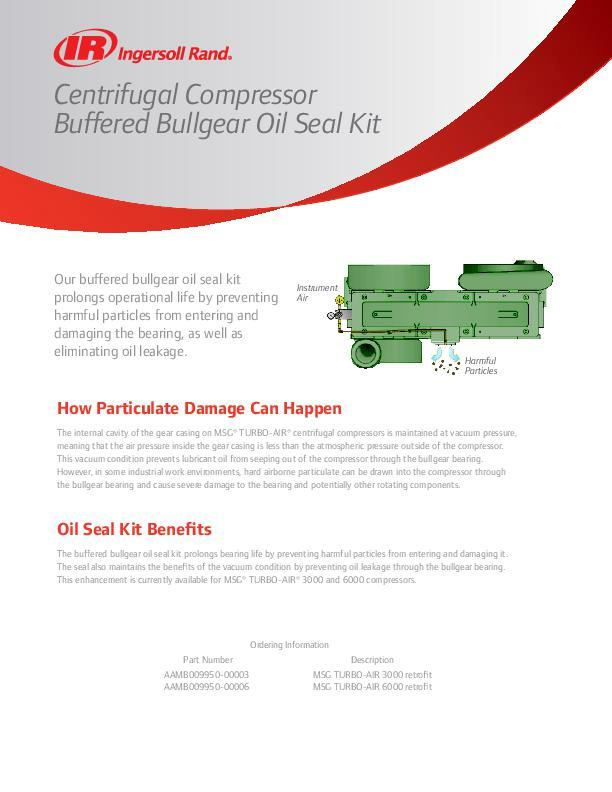 Centrifugal Compressor Buffered Oil Seal Kit Flyer