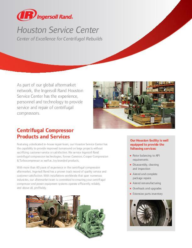 Houston Service Center Flyer