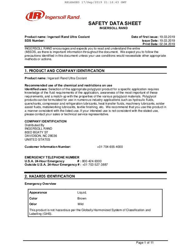 Safety-Data-Sheet-Ultra-Coolant-China-English