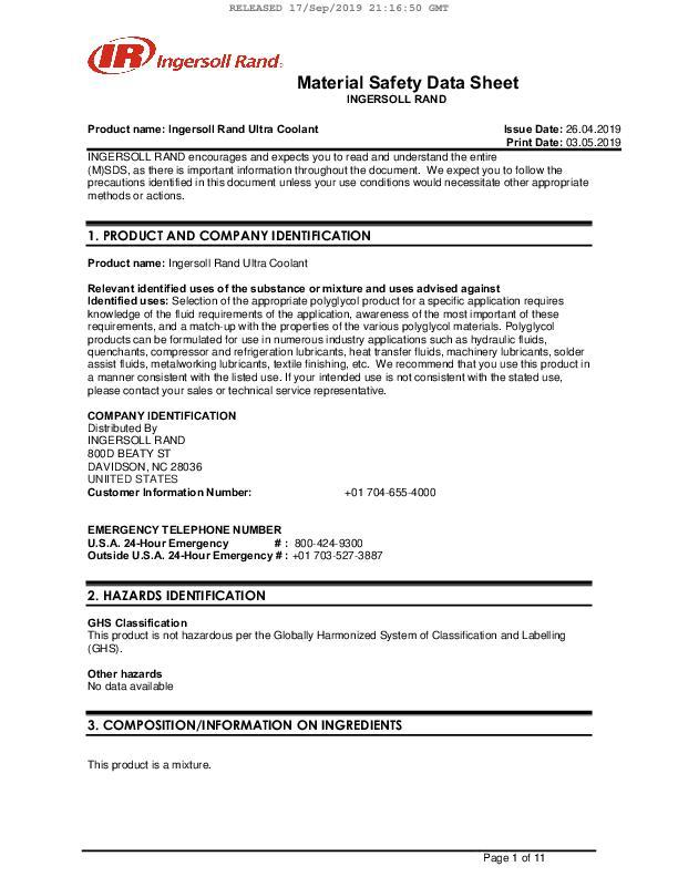 Safety-Data-Sheet-Ultra-Coolant-Costa-Rica-English