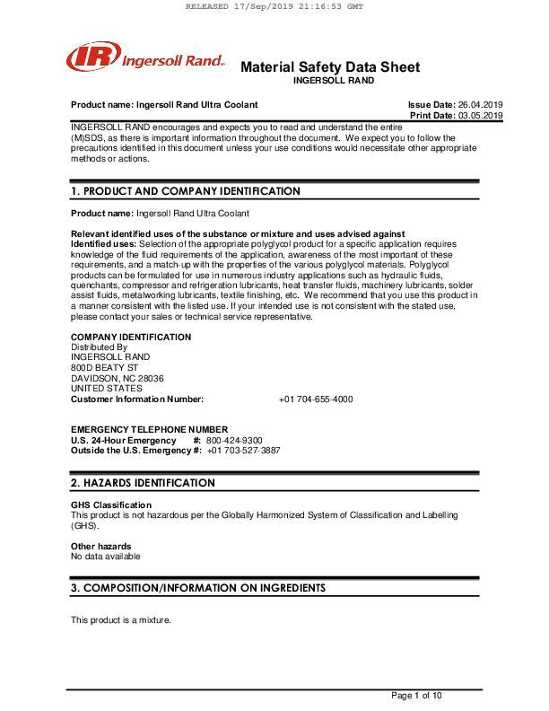 Safety-Data-Sheet-Ultra-Coolant-Dominican-Republic-English