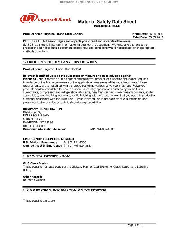 Safety-Data-Sheet-Ultra-Coolant-Honduras-English