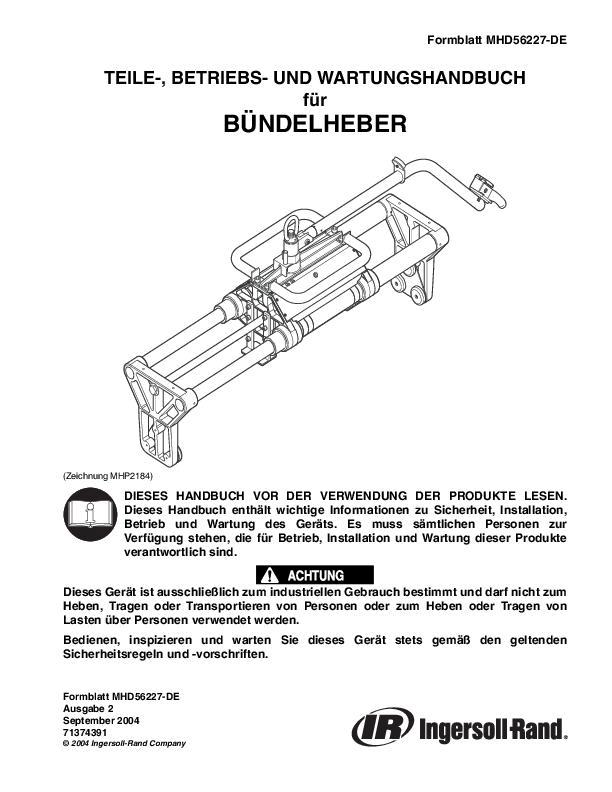 MHD56227DEed2SBH Parts Operation  Maintenance Manual
