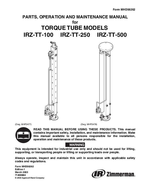 MHD56262ed1IRZ Torque Tube Parts Operation  Maintenance Manual