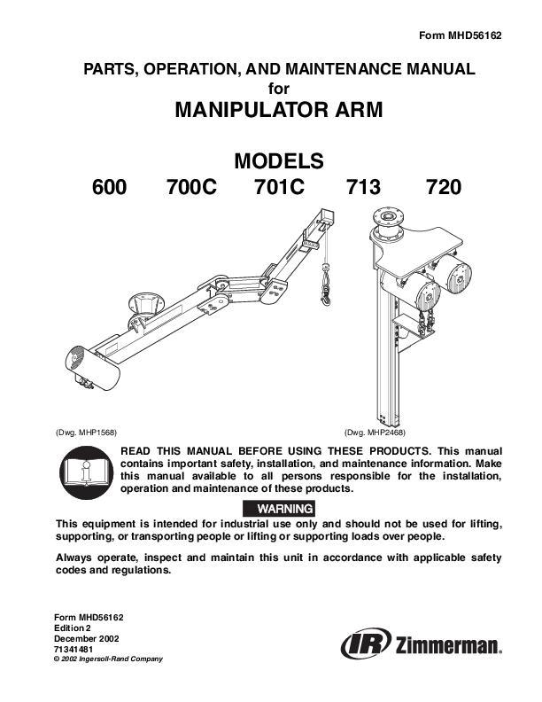 MHD56162ed2Manipulator Arm Parts Operation  Maintenance Manual