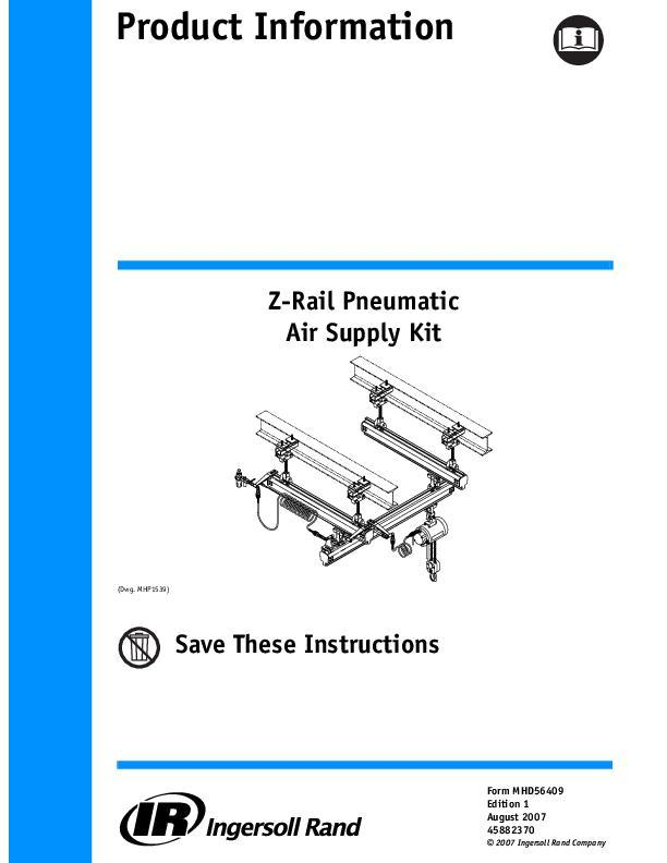 MHD56409ed1Z Rail Pneumatic Air Supply KitProduct Information
