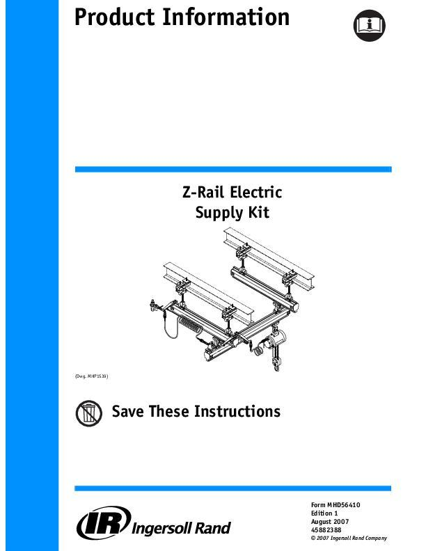 MHD56410ed1Z Rail Electric Supply KitProduct Information