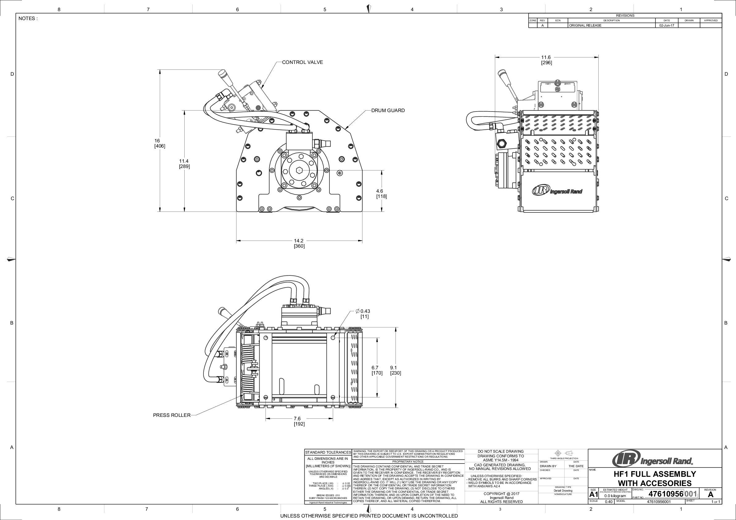 HF1 Winch Full Assembly With Accessories  drawing