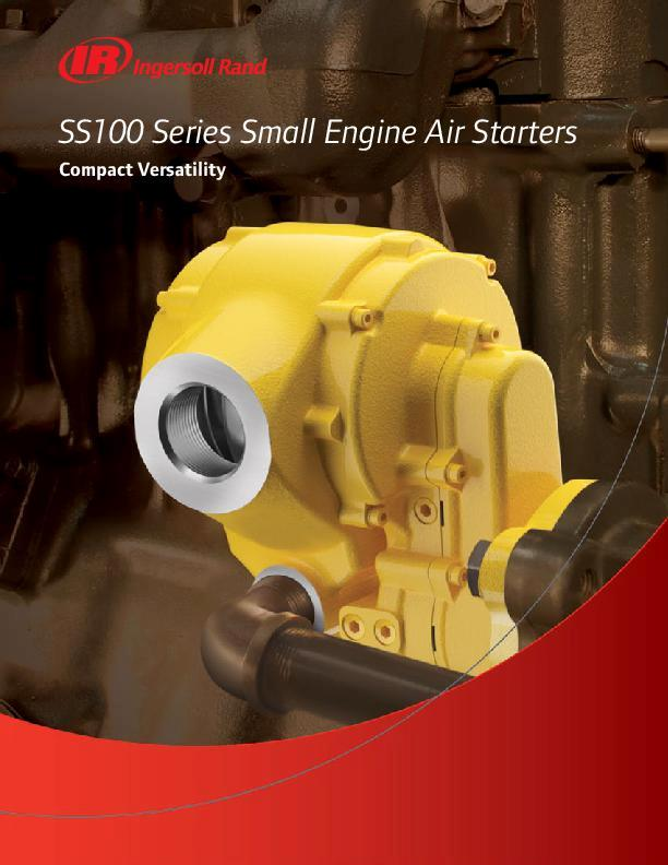 SS100 Small Engine Starter Brochure Update Screen